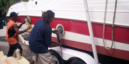 Buffing Boat